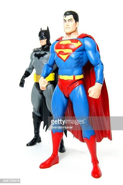 superman and batman - mask cartoon characters stock pictures, royalty-free photos & images