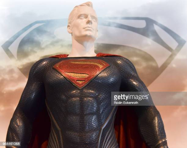 Superman at the updated DC Universe Justice League Exhibit at Warner Bros Tour Center on May 3 2018 in Burbank California