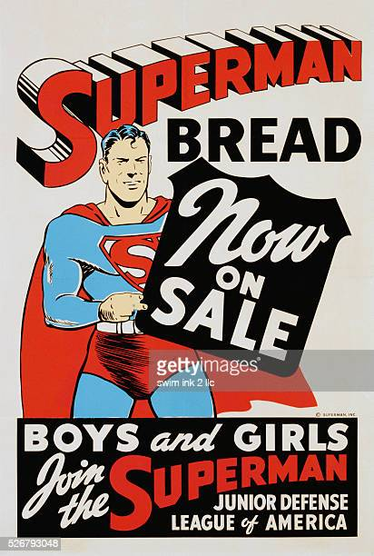 Superman Bread Now on Sale Poster