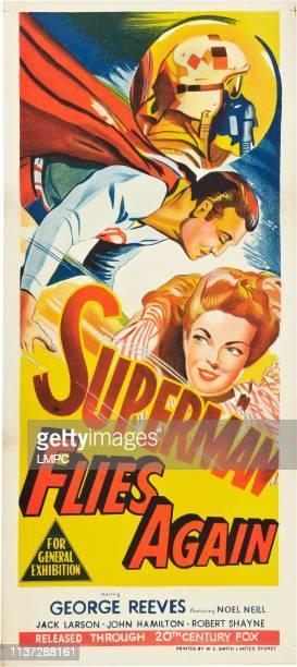 Superman Flies Again, poster, l-r: George Reeves, Noel Neill on Australian poster art, 1954.