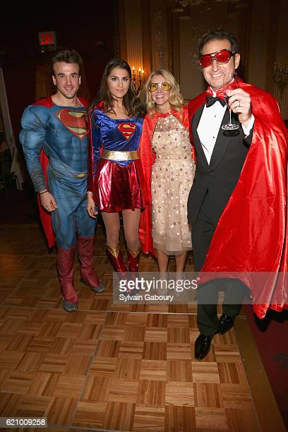 Superman Supergirl Kathy Prounis and Othon Prounis attend Lenox Hill Neighborhood House Associates Committee Fall Benefit Celebrate the Neighborhood...