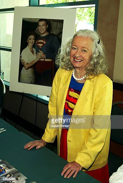 Superman's Noel Neill appears at the First Official TV Land Convention at the Burbank Airport Hilton on August 16 2003 in Burbank California