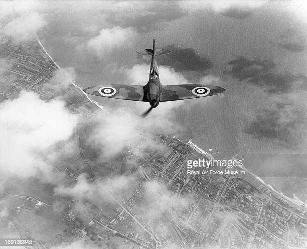 Supermarine Spitfire I in flight from Eastleigh 1938