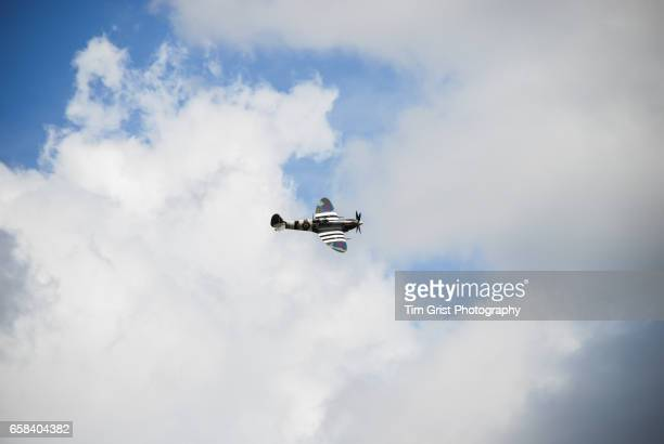 supermarine spitfire - d day stock pictures, royalty-free photos & images