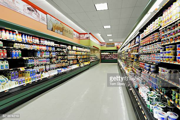 Supermarket aisle at IGA supermarket