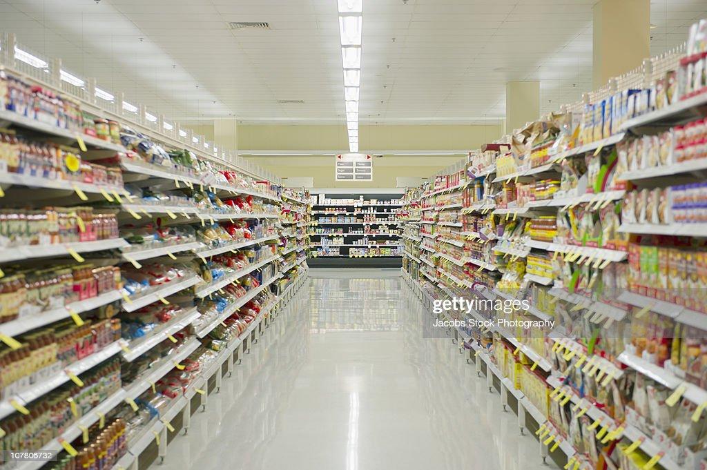 Supermarket Aisle : Foto de stock
