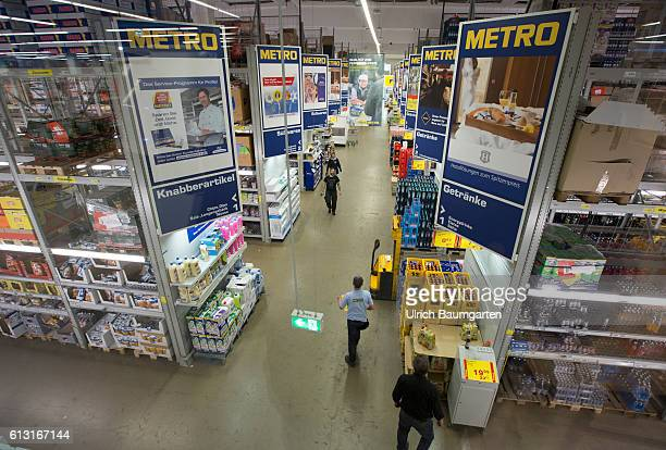 Supermarket branch of Metro AG in St Augustin Interior view