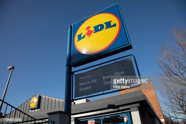 Supermarket chain Lidl store on Old Kent Road on 9th January 2020 in London, England, United Kingdom. Lidl Stiftung & Co. KG is a German global...