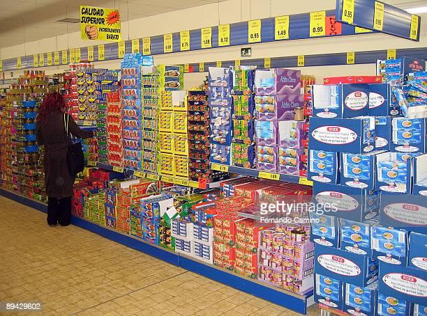 LIDL supermarket in Madrid Spain