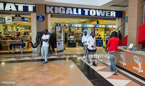 Supermarket inside of a shopping center on February 03 2014 in Kigali Rwanda