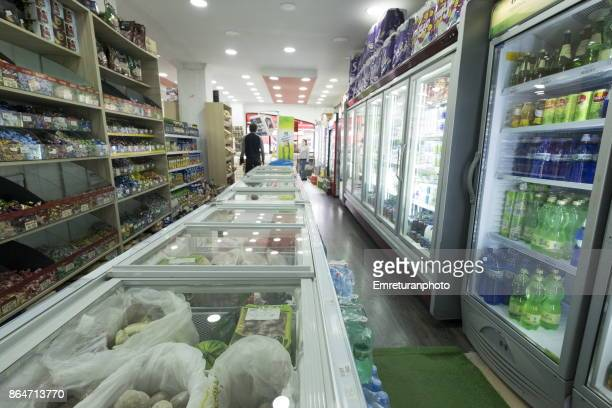 a supermarket interior in batumi. - emreturanphoto stock pictures, royalty-free photos & images