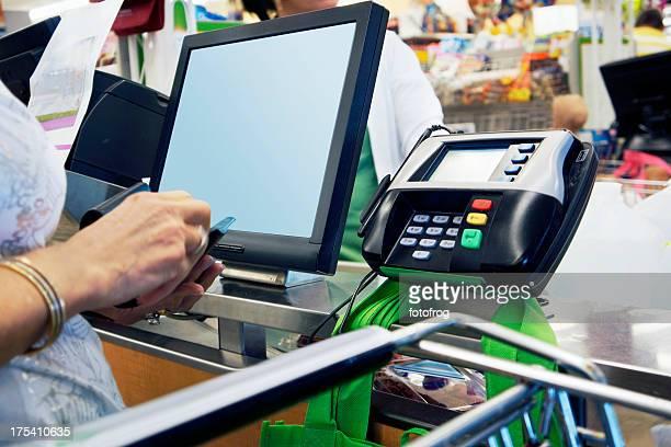 Supermarket paying