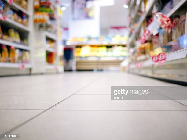 supermarket - flooring stock photos and pictures