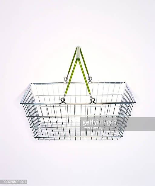 Supermarket shopping basket, close-up