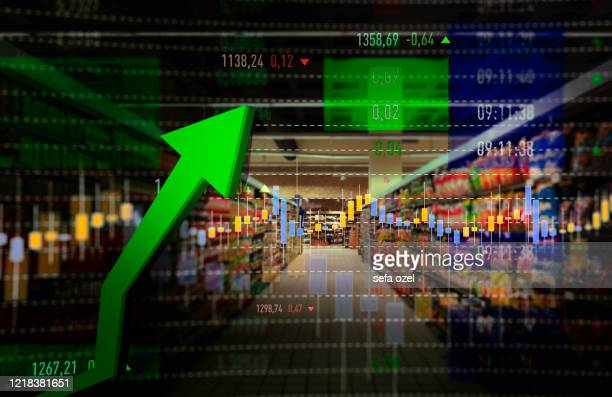 supermarket shopping rise - consumerism stock pictures, royalty-free photos & images
