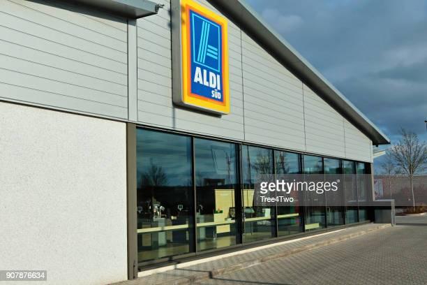 ALDI Supermarkt Shop in der deutschen Stadt Amberg