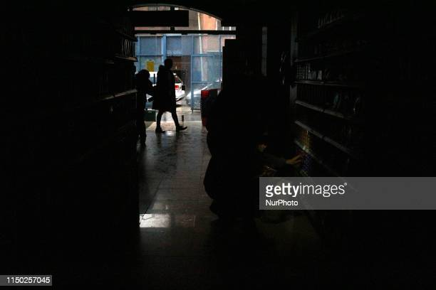 Supermarkets in the dark during the massive outage in Buenos Aires Argentina on June 16 2019 A widespread power failure early Sunday morning has left...