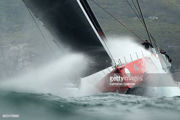 Supermaxi Comanche races during the 2015 Sydney to Hobart on December 26 2015 in Sydney Australia