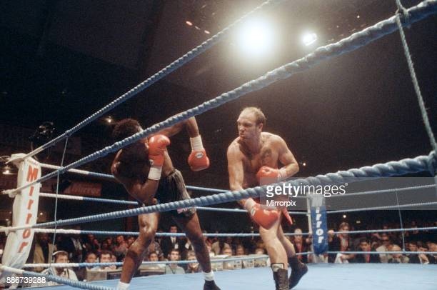 WBC supermiddleweight title Nigel Benn vs Lou Gent Earls Court Exhibition Centre London England Benn stopped his opponent in the 4th round by TKO to...