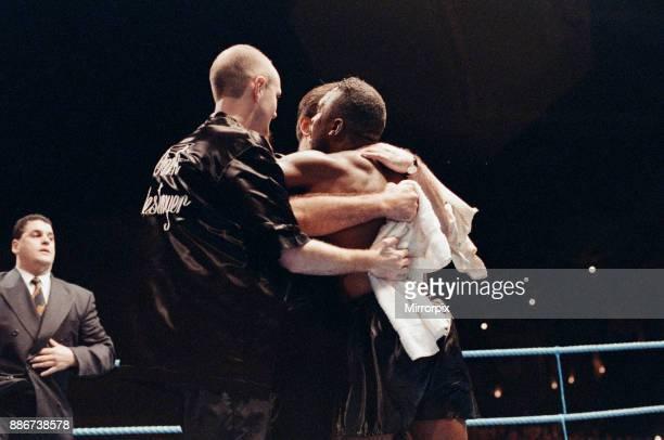 WBC supermiddleweight title Nigel Benn vs Nicky Piper Alexandra Pavilion London England Benn won by TKO in the 11th round to retain his WBC...