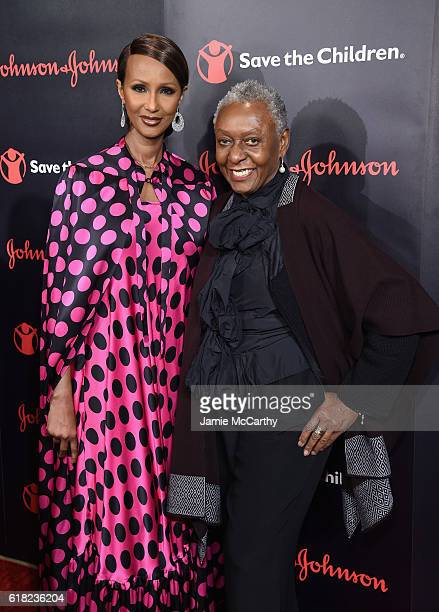 Supermodel Activist Founder of IMAN Cosmetics and Voice Award Recipient Iman and Supermodel and Award Presenter Bethann Hardison attend the 4th...
