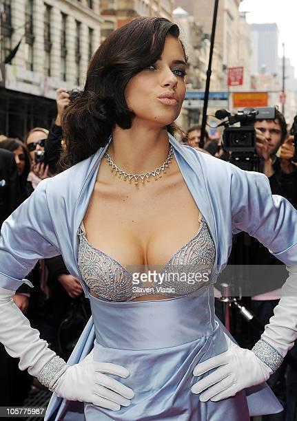 Supermodel Adriana Lima reveals the $2 million bombshell fantasy bra designed by Damiani exclusively for Victoria's Secret at Victoria's Secret, SoHo...