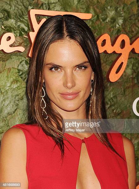 Supermodel Alessandra Ambrosio arrives at the Wallis Annenberg Center For The Performing Arts Inaugural Gala at Wallis Annenberg Center for the...