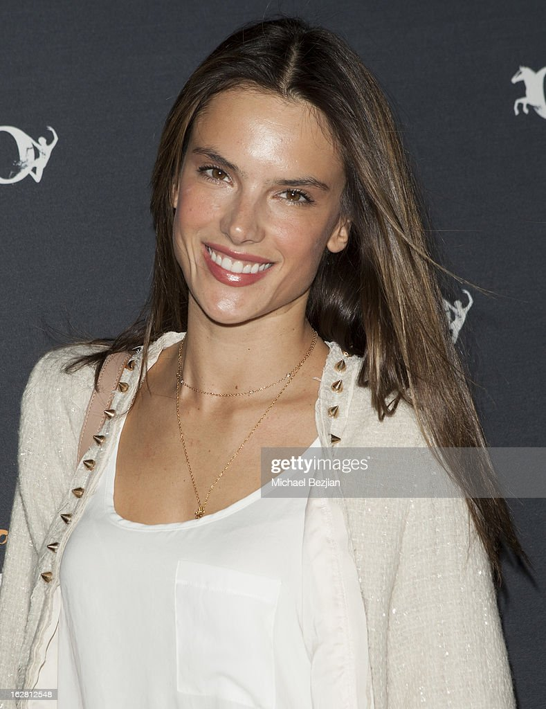 Supermodel Alessandra Ambrosio attends Celebrity Red Carpet Opening For Cavalia's 'Odysseo' at Cavalia's Odysseo Village on February 27, 2013 in Burbank, California.