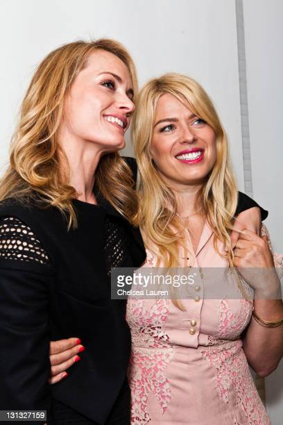 Supermodel Amber Valletta and photographer Amanda de Cadenet attend IRIS Nights Lecture at Annenberg Space For Photography on November 3 2011 in...