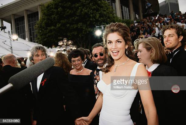 Supermodel and actress Cynthia Ann 'Cindy' Crawford attends the 56th Academy Awards