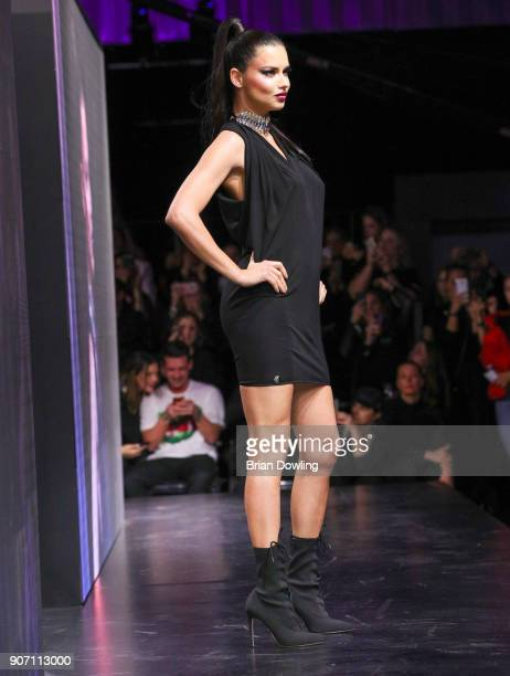 Supermodel and Victoria's Secret Angel Adriana Lima walks the runway during the Maybelline Show 'Urban Catwalk Faces of New York' at Vollgutlager on...