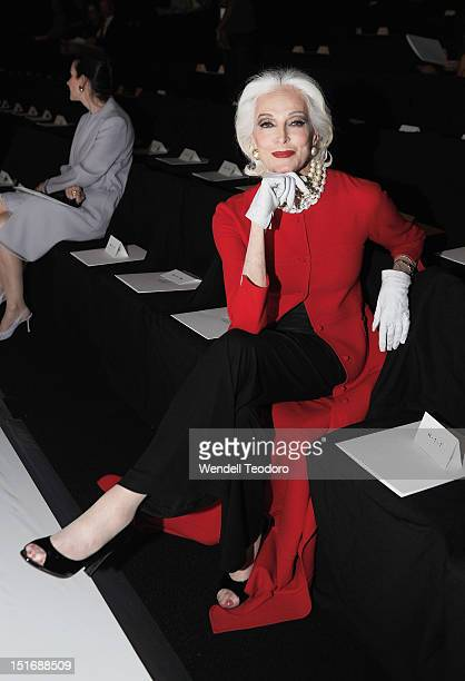 Supermodel Carmen Dell'Orefice attends the Chado Ralph Rucci show during Spring 2013 MercedesBenz Fashion Week at The Theatre Lincoln Center on...
