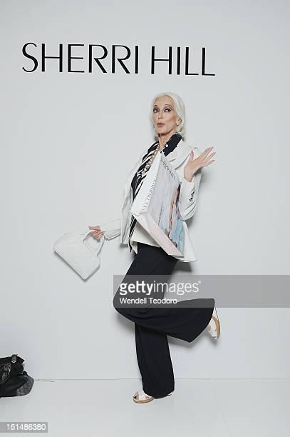 Supermodel Carmen Dell'Orefice attends the Evening Sherri Hill show during Spring 2013 MercedesBenz Fashion Week at Trump Tower Grand Corridor on...