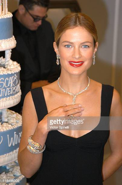 Supermodel Carolyn Murphy during Harry Winston celebrates Oscar's 75th Diamond Anniversary at Harry Winston in Beverly Hills California United States
