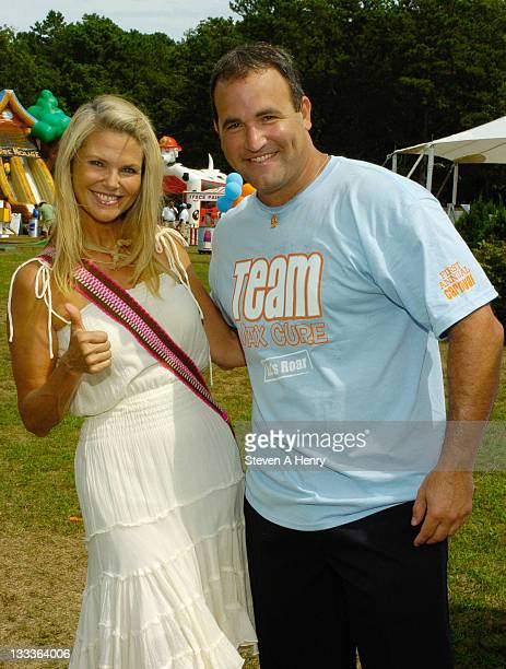 Supermodel Christie Brinkley and David Plotkin attend The Max Cure Foundation 'Roar For A Cure' Carnival at the East Hampton Indoor Tennis Club on...