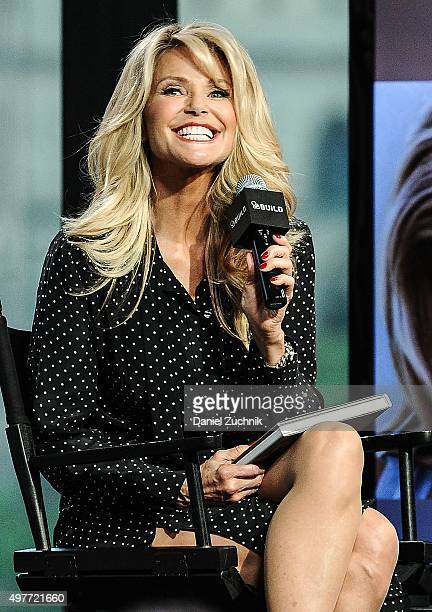 Supermodel Christie Brinkley attends AOL Build to discuss her new book 'Timeless Beauty' at AOL Studios on November 18 2015 in New York City