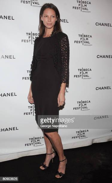 Supermodel Christy Turlington attends the 3rd Annual Chanel Dinner Party on April 28 2008 at AGO at the Greenwich Hotel in New York City