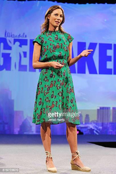 Supermodel Christy Turlington attends the PTTOW Summit at Terranea Resort at Terranea Resort on April 5 2016 in Rancho Palos Verdes California