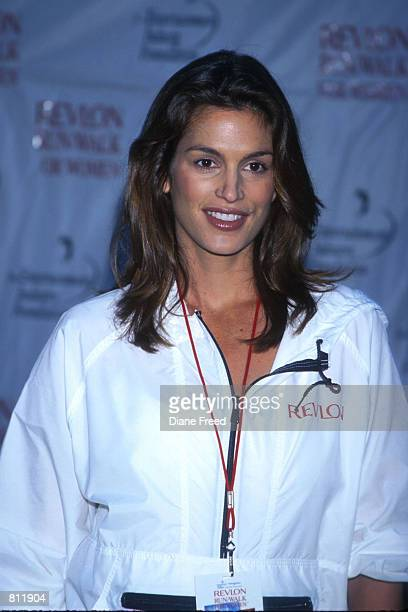 Supermodel Cindy Crawford 8 months pregnant joined in Revlon's Run/Walk for Women a charity event held in the streets of NYC to help the fight...