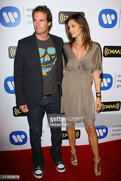 Supermodel Cindy Crawford and Randy Gerber arrive at the Warner Music Group Post Grammy Party held at Vibiana on February 10 2008 in Los Angeles...