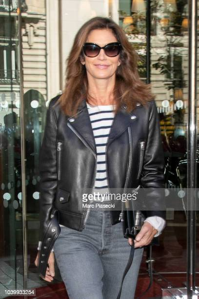Supermodel Cindy Crawford is seen on September 25 2018 in Paris France