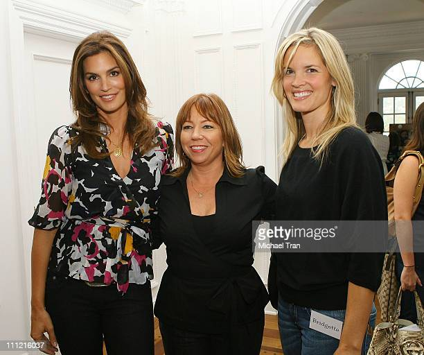 Supermodel Cindy Crawford P3 Beauty Terri Apanasewicz and actress Bridgette Wilson Sampras attends the Mom's Day of Beauty event at The Beverly...