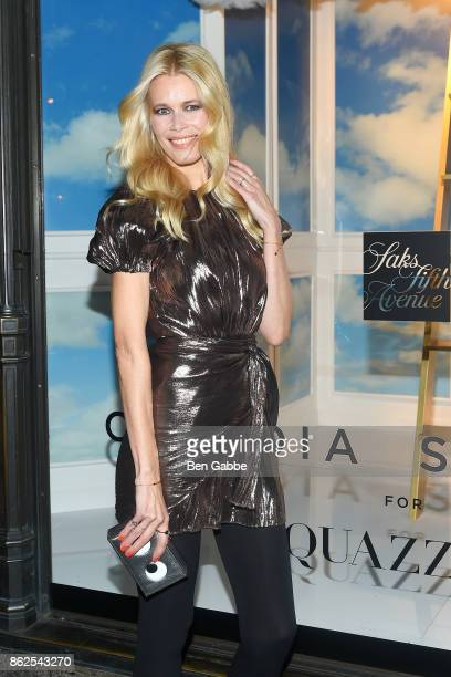 Supermodel Claudia Schiffer attends the Claudia Schiffer For Aquazzura Launch at Saks Fifth Avenue on October 17 2017 in New York City