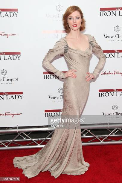 """Supermodel Coco Rocha attends the """"The Iron Lady"""" New York premiere at the Ziegfeld Theater on December 13, 2011 in New York City."""
