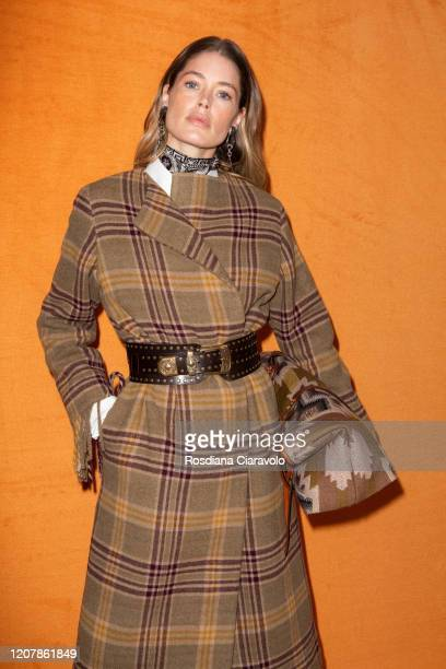 Supermodel Doutzen Kroes is seen backstage at the Etro fashion show on February 21, 2020 in Milan, Italy.
