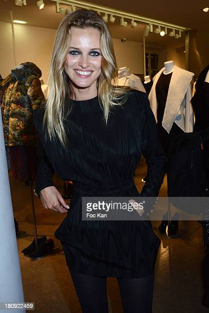 Supermodel Edita Vilkeviciute from Viva Agency attends the Colette Shop Cocktail during the Vogue Fashion Night Out on Rue Saint Honore on September...