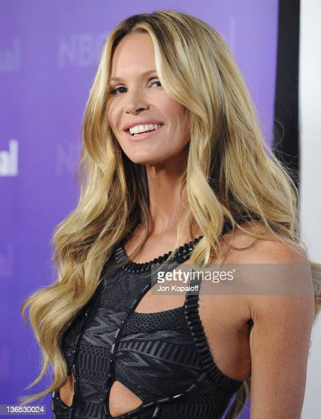 Supermodel Elle Macpherson arrives at the NBC Universal AllStar Party at The Athenaeum on January 6 2012 in Pasadena California