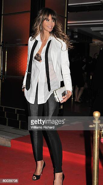 Supermodel Elle Macpherson attends the 'Figures of Speech' fundraising Gala at the Royal Horticultural Hall on February 27 2008 in London