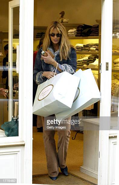 Supermodel Elle Macpherson leaves Bonpoint a famous baby store in Sloane Street London February 11 2003 Elle Macpherson gave birth Thursday 6...
