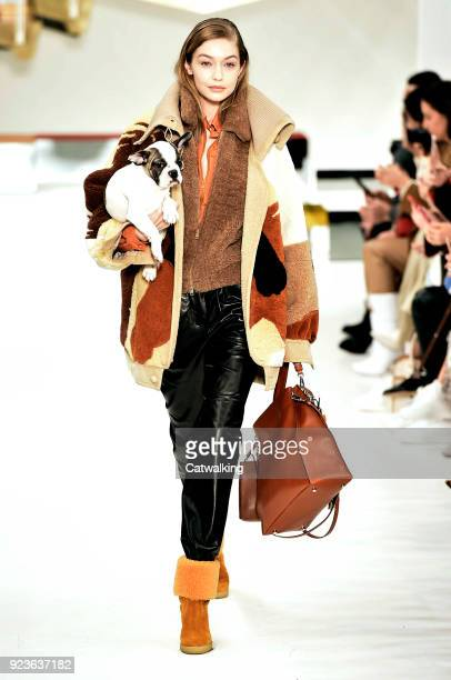 Supermodel Gigi Hadid walks the runway at the Tod's Autumn Winter 2018 fashion show during Milan Fashion Week on February 23, 2018 in Milan, Italy.